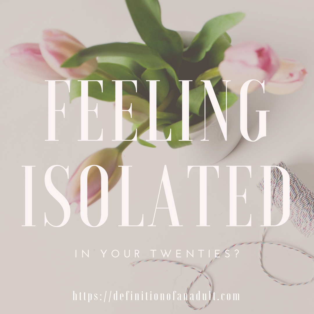 Feeling Isolated in Your Twenties – Pink Flowers and Thread in Background